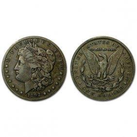 1892 Cc Morgan Silver Dollar - Vf