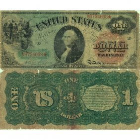 1869 $1 Legal Tender - Large Size Note - Good