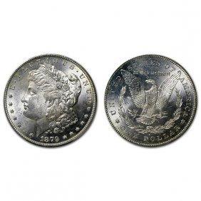 1879 S Morgan Silver Dollar Rev Of 78 - Bu