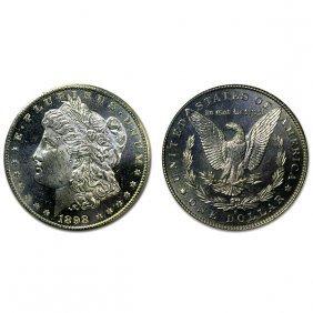 1898 S Morgan Dollar - Ms63+ - Proof Like