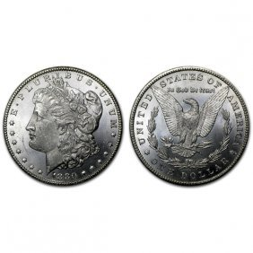 1880 Cc Morgan Silver Dollar - Bu