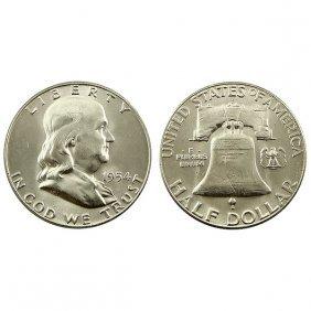 1954 S Franklin Half Dollar - Bu