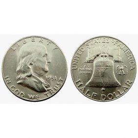 1951 D Franklin Half Dollar - Bu