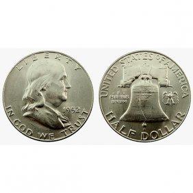 1952 D Franklin Half Dollar - Bu