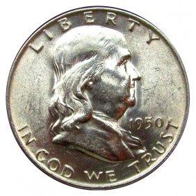 1950 D Franklin Half Dollar - Bu