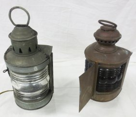 Two (2) 19th Century Ship's Lanterns