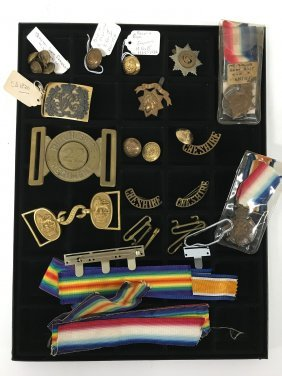 Military Buttons, Buckles, Ribbons, Cheshire, K. Geo Vi