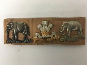 Three (3) Military Pins, 19th Alexandra Pwo Hussars,