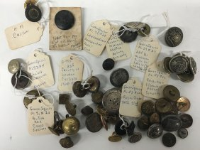 Misc. Collection Of Military Buttons, London Cyclists,