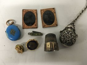 Unrelated Items: Daguerreotypes, Mourning Locket With