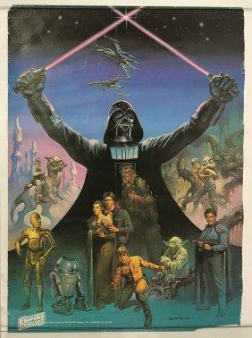 Empire Strikes Back Movie Poster, 1980