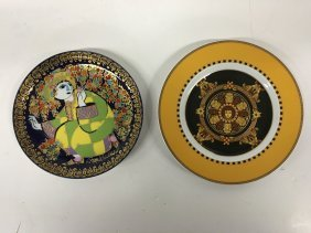 Two (2) Rosenthal Dinner Plates Incl. Versace Barocco,