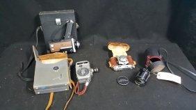 Vintage Cameras; Film, Movie, & Asahi Zoom Lens