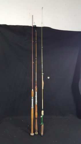 3 Vintage Fishing Rods
