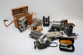 Impressive 8mm Camera Lot; Bell & Howell, Kodak,