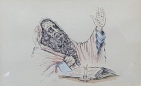 Judaica Art Lithograph