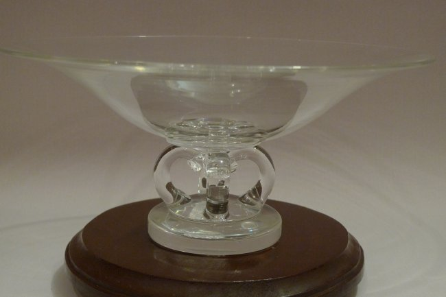 Large steuben crystal glass footed bowl centerpiece lot