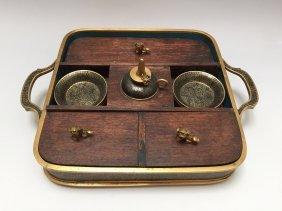 Vintage A Set Of Cloisonne Enamel Tray