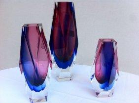 Mandruzzato, Murano, Three Vases