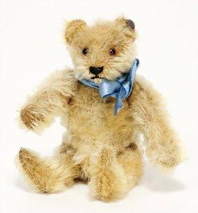 Steiff Bear, 13 Cm, Blond, C. 1940, With Button, A Bit