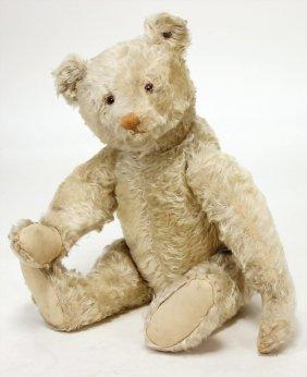 Steiff Bear, Pre-war Era, White Mohair, Light Colored