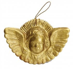 Dresden Cardboard Christmas Tree Decoration, Face Of An