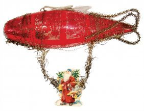 Christmas Tree Decoration, Zeppelin, Glass, Leonic