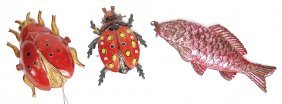 Christmas Tree Decoration, 3 Pieces Penny Toy, Fish,