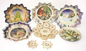 Christmas Tree Decoration, Plate Of Christmas Goodies,