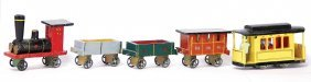 Erzgebirge Train, Miniature With Tin Wheels, 4-part,