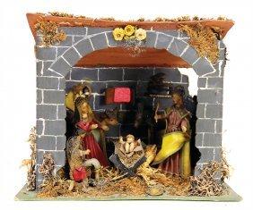 Christmas Tree Decoration, Christmas Crib, Cardboard,