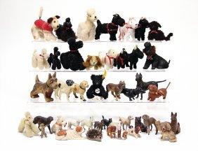 Gr. Konv. Puppenstuben-hunde, Versch. Materialien,
