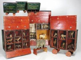 Menagerie-wagen, 3 Teile, Von Fritz Röbbecke,