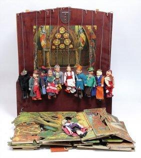 Marionetten-theater, Stabpuppen, Tschechien, Wohl 20er