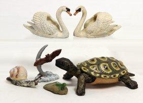 Elastolin Schildkröte, 1 Schnecke, Lineol, 2
