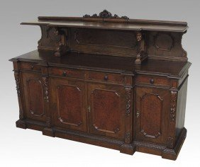 FRENCH WALNUT CARVED SIDEBOARD