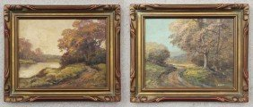 PAIR OF LANDSCAPE PAINTINGS SIGNED EICHER