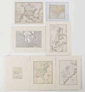 COLLECTION OF 7 ANTIQUE US MAPS