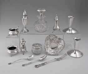 ESTATE COLLECTION OF STERLING SILVER ITEMS
