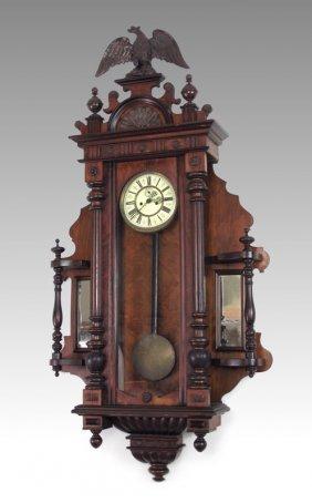 RESCH GEBRUDER CARVED VIENNA REGULATOR CLOCK
