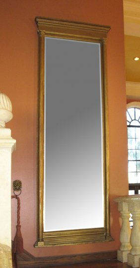 OVER 8 FEET TALL LATE 19TH C PIER MIRROR