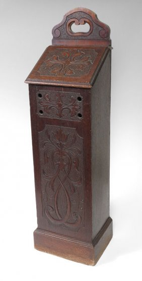 COUNTRY FRENCH CARVED PANETIERE (BREAD BIN)