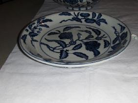 Ming Blue And White Plate Xuande Mark And Period