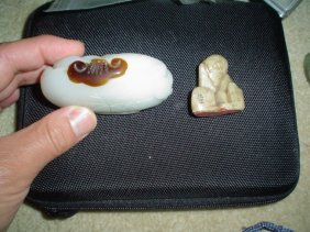 Chinese Jade Carving And A Seal Stone. Two Pieces.