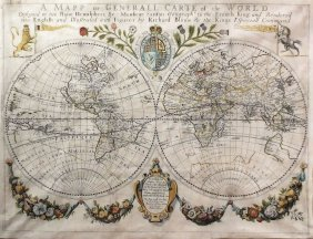 "Blome's World Map From ""cosmography And Geography"""