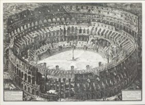 Piranesi Ettching Of The Colleseum - 1776