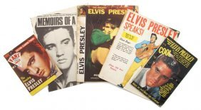 A Group Of 1956 - 1957 Elvis Presley Magazines,