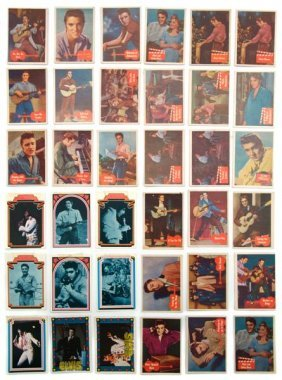 A Collection Of Thirty-Six Elvis Presley Trading Ca
