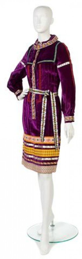 A Giorgio Di Sant'Angelo Purple Velvet Jacket,