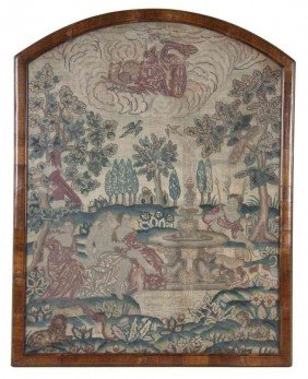 A George II Needlework Picture, Height 27 X Width 2